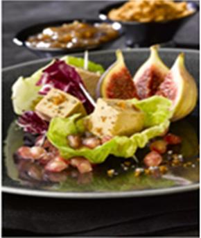 Recette bouchées de foie gras en coeur de laitue
