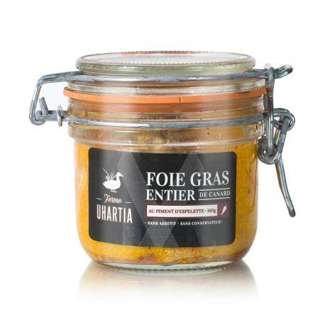 Foie gras entier de canard au piment d'Espelette