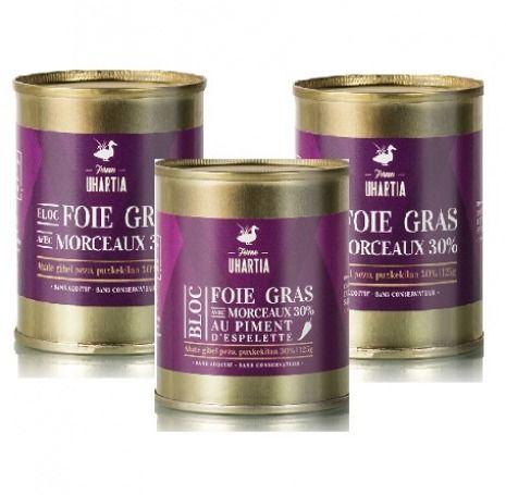 Assortiment 3 Blocs de foie gras