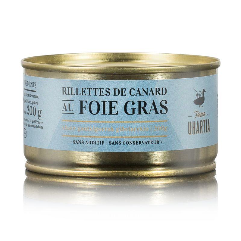Rillettes de canard au foie gras  15%