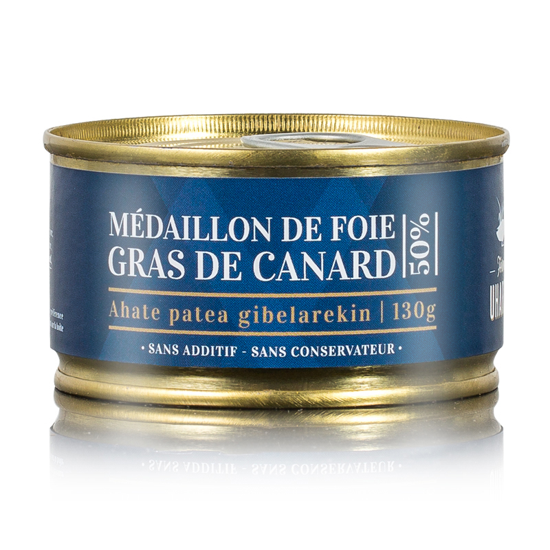 Médaillons de foie gras de canard 50%